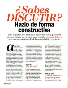 COSMOPOLITAN Nº 269, Sabes discutir, Pag 1, Mar Cantero Sánchez