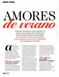 COSMOPOLITAN Nº 262, AMORES DE VERANO, pag 1, Mar Cantero Sánchez