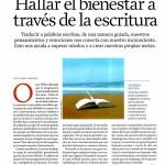HALLAR EL BIENESTAR A TRAVÉS DE LA ESCRITURA, pag1, INTEGRAL 5-2007, Mar Cantero Sánchez