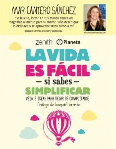 La vida es fácil (Zenith-Planeta), poster, Mar Cantero Sánchez
