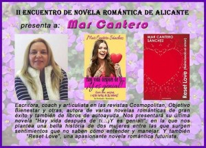 ERA, Encuentro Novela Romántica Alicante, Mar Cantero Sánchez,