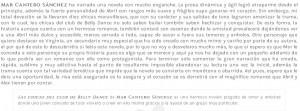Las chicas del Club de Belly Dance, Reseña 3, Mar Cantero Sánchez, www.marcanterosanchez.com