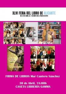 Feria del libro Alicante 2016, Mar Cantero Sánchez, Cartel firmas 3, www.marcanterosanchez.com