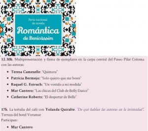Feria Novela romántica Benicassim, Mar Cantero Sánchez