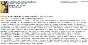 Las chicas del club de Belly Dance, Crítica 5, Mar Cantero Sánchez, www.marcanterosanchez.com