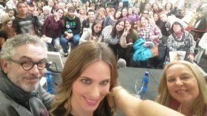 Presentación Vanesa Romero, selfie 1, Mar Cantero Sánchez,