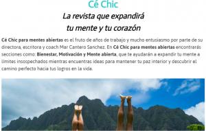 é Chic Para mentes abiertas, portada, foto Green Press Comunicación, Mar Cantero Sánchez
