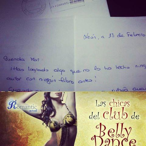 Las chicas del club de Belly Dance, carta lectora Sarita Ruíz, Mar Cantero Sánchez, www.marcanterosanchez.com