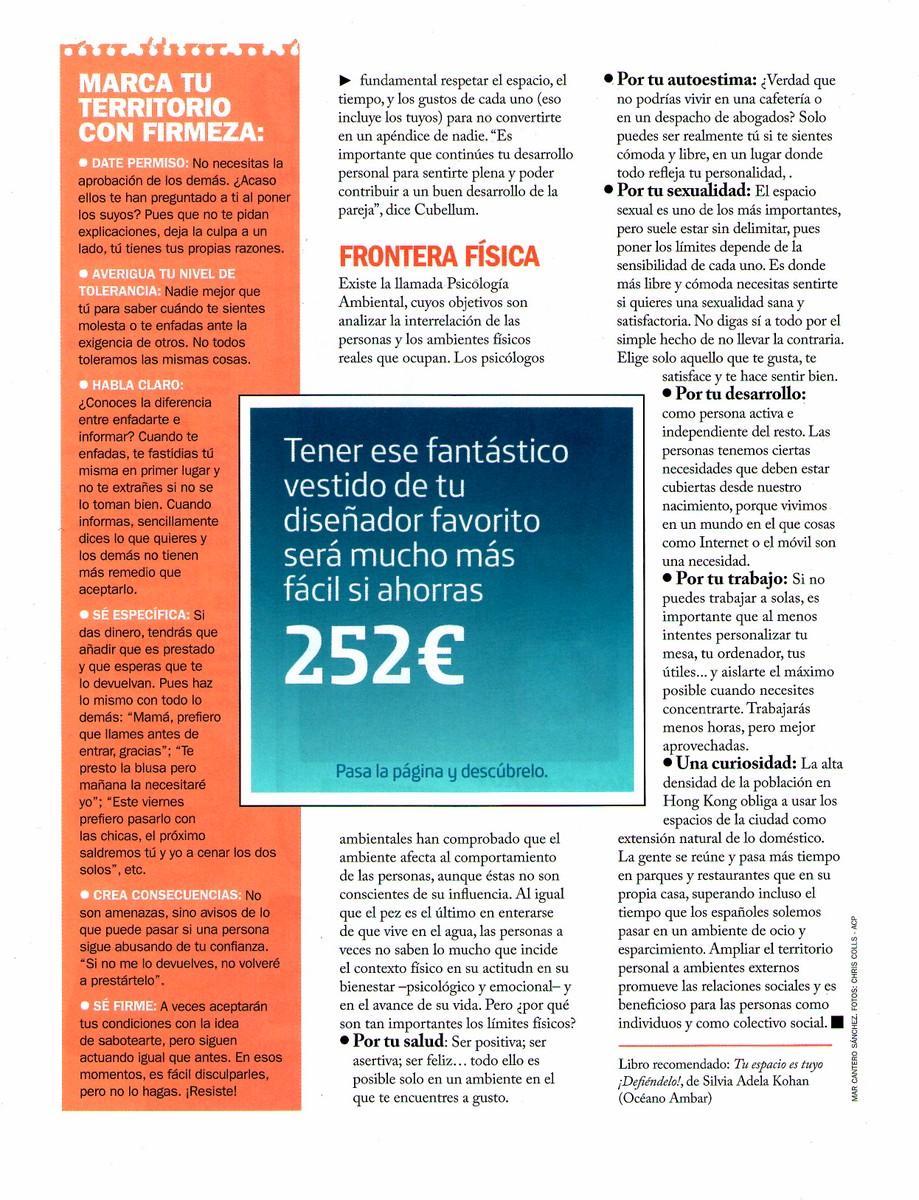 COSMOPOLITAN Nº 260, pag 4, Mar Cantero Sánchez
