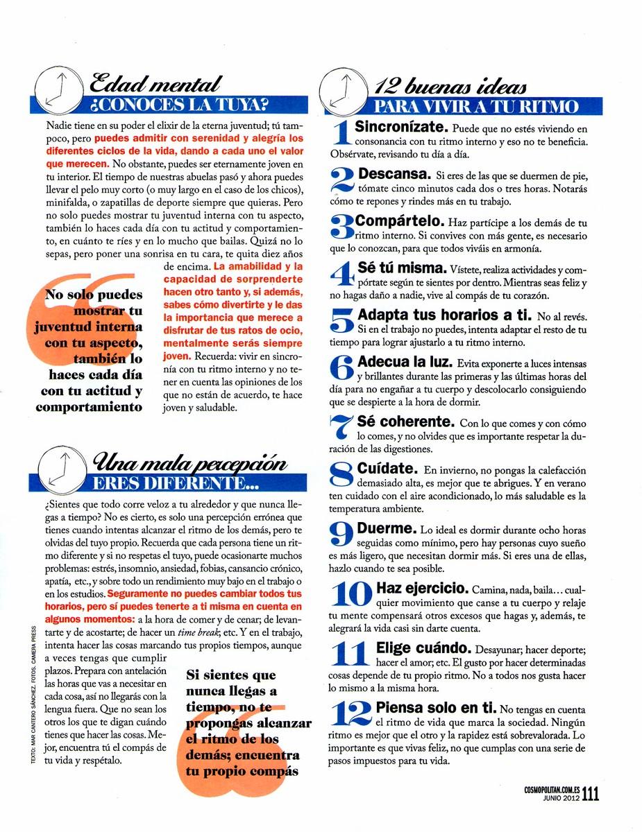 COSMOPOLITAN Nº 261, pag 4, Mar Cantero Sánchez
