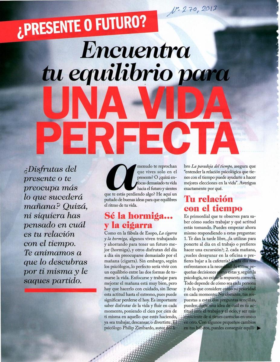 Encuentra tu equilibrio para una vida perfecta, pag 1, Mar Cantero Sánchez