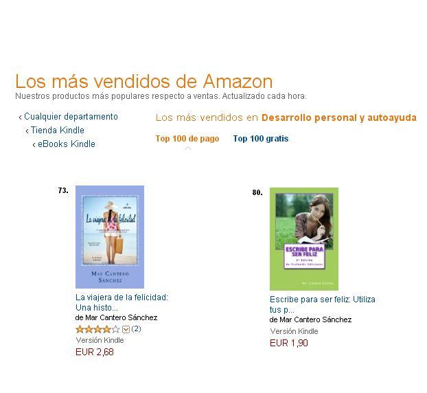 Dos de mis libros entre los 100 más vendidos de Amazon