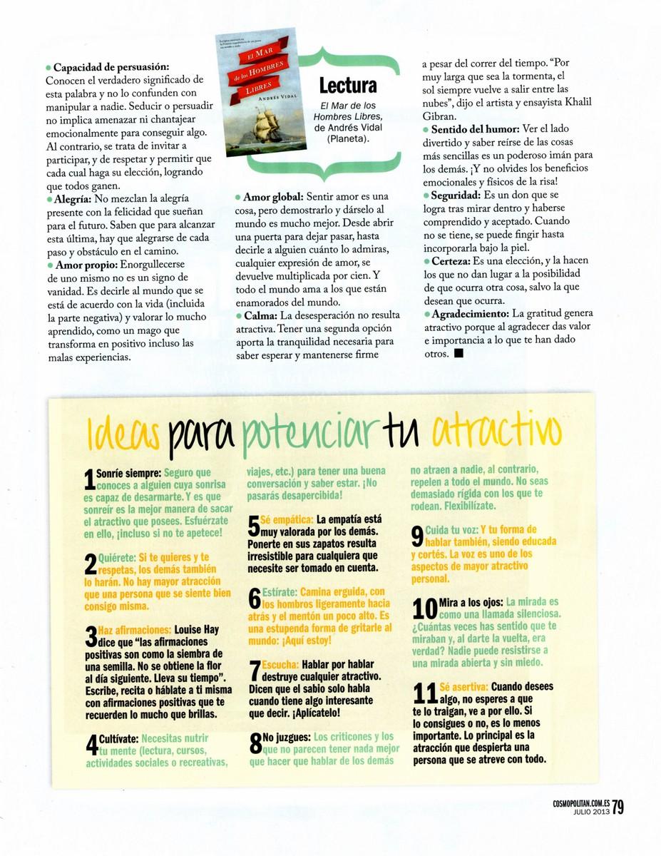 Pag 4, Despierta tu atractivo personal, COSMOPOLITAN 274, Mar Cantero Sánchez
