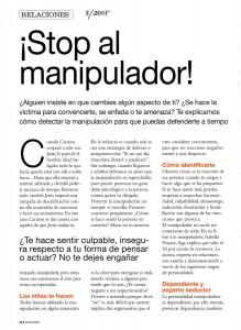 STOP AL MANIPULADOR, pag 1, PSICOLOGÍA PRÁCTICA 3-2008, Mar Cantero Sánchez