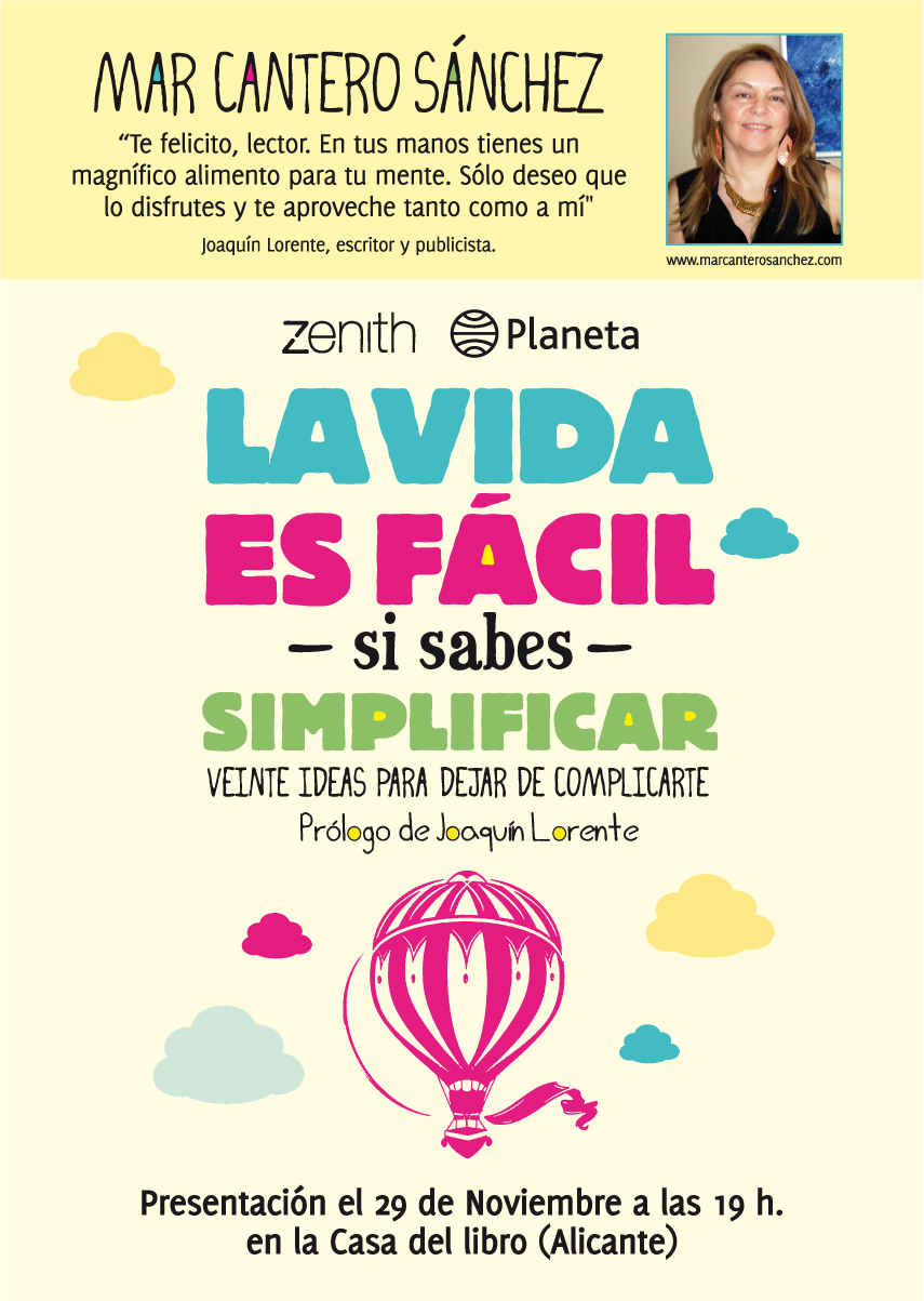 Presentación «La vida es fácil», Casa del Libro, Alicante