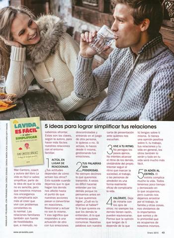 Revista Ana Rosa (AR), entrevista Mar Cantero Sánchez, La vida es fácil