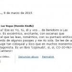 Crítica Yo tú él y vos...De Benidorm a Las Vegas, Amazon 6, Mar Cantero Sánchez
