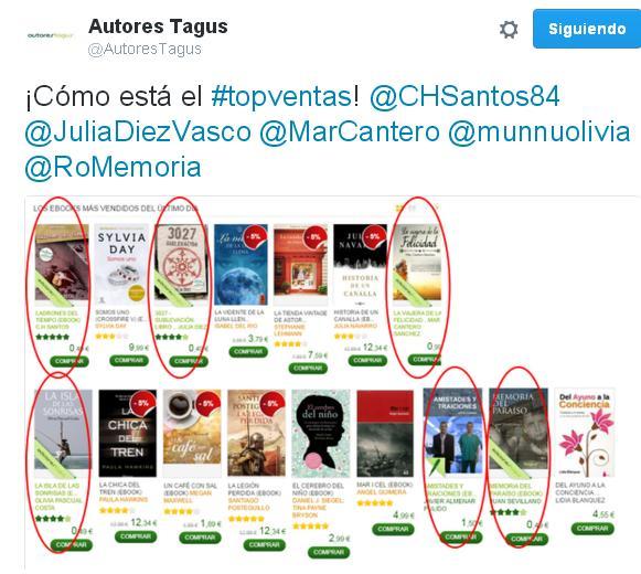 ¡Mi novela en el Top ventas!