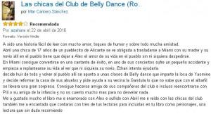 Las chicas del club de Belly Dance, crítica 6, Mar Cantero Sánchez, www.marcanterosanchez.com