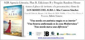 Cartel presentación LOS MARES DEL ALBA