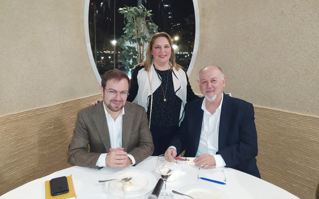 Con Javier Sierra y Juan Eslava Galán