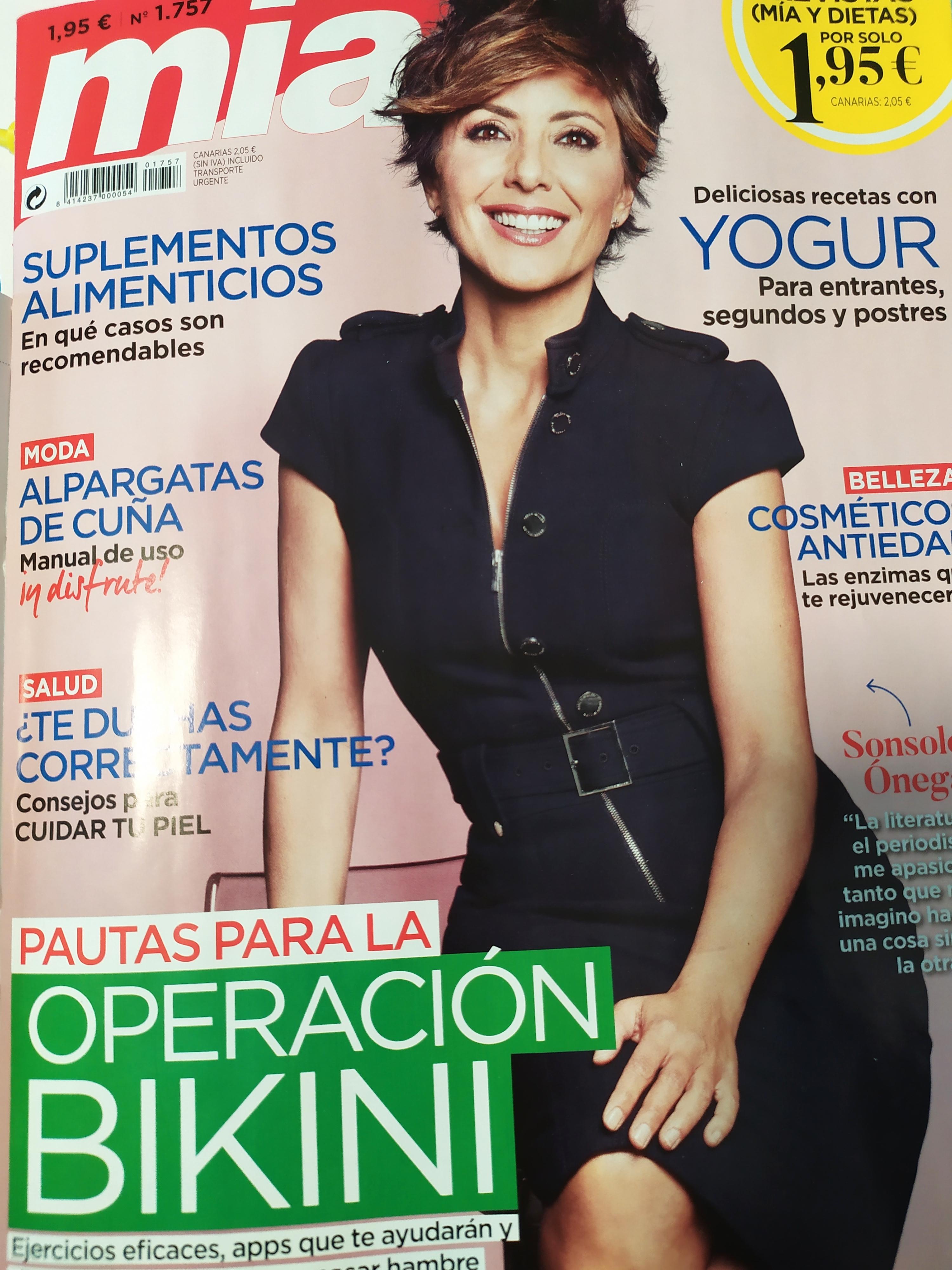 Tu mente no tiene límites, revista MÍA, portada, Mar Cantero Sánchez, www.marcantero.com