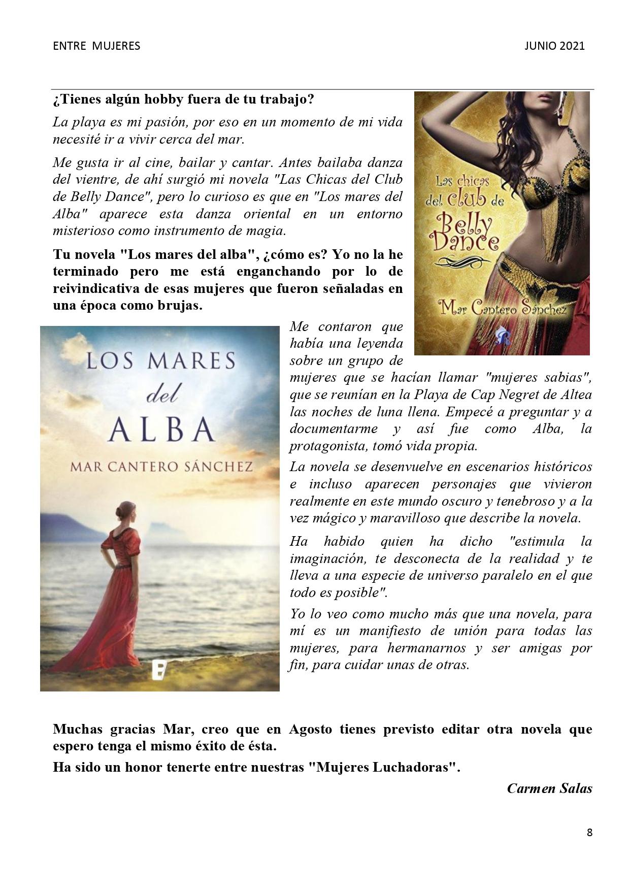 HALLAR EL BIENESTAR A TRAVÉS DE LA ESCRITURA, pag 3, INTEGRAL 5-2007, Mar Cantero Sánchez